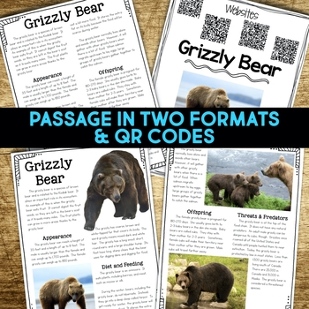 Alpine Tundra Animals: Informational Article, QR Code Research Page & Fact Sort