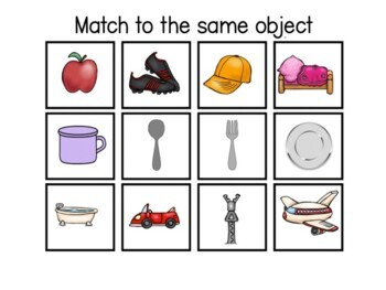Already Done! Tasks for IEP Work Bins- Everyday Objects (Autism & Sp.Ed.)