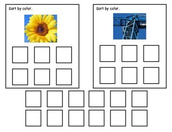 Already Done! Tasks for IEP Work Bins- Sorting Colors  (Autism & Special Ed.)