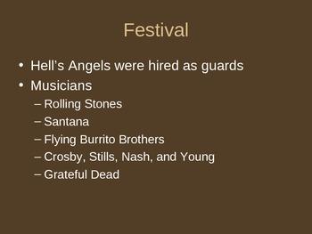 Altamont Music Festival Powerpoint