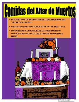 Day of the Dead Food Project for the Altar de Muertos-Spanish