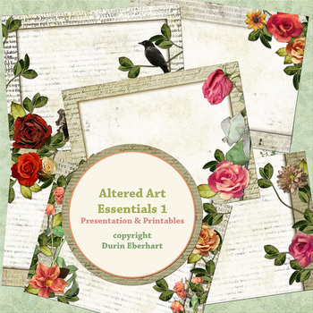 Altered Art Essentials 1 PowerPoint Presentation and Digital Printable Files