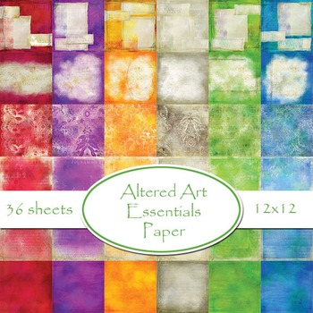Designer's Resource: Altered Art Essentials Digital Printable Paper