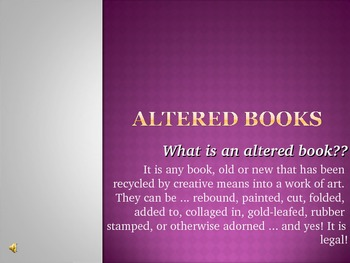 Altered Books Powerpoint