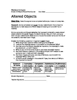 Altered Objects