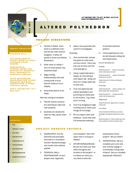 Altered Polyhedron Project