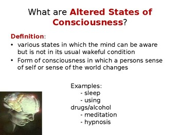 Altered States of Consciousness PowerPoint