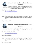 Alternate Activity Instruction Cards