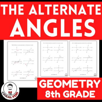 Alternate Angles Geometry Worksheets For 5TH Grade