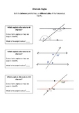 Alternate Angles Introductory Task