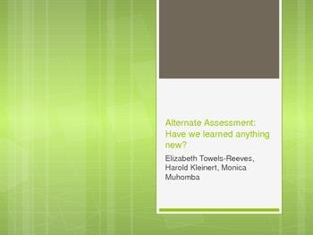 Alternate Assessment PowerPoint