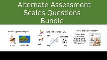 Alternate Assessment Scales Activities Bundle