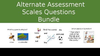 Alternate Assessment Scales Activities Bundle