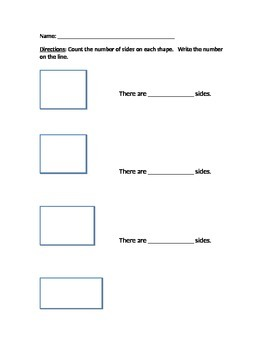 Alternate Assessment - count sides of shapes