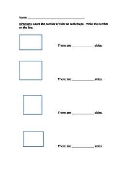 Alternate Assessment - count sides of shapes