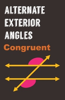 Alternate Exterior Angles Poster