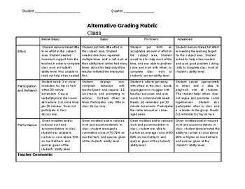Alternate Grading Rubric