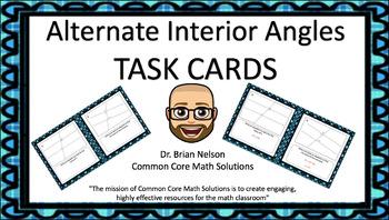 Alternate Interior Angles Task Cards