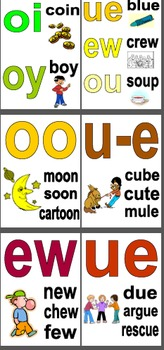 Sound Work - Spelling - Long Vowel Sounds- 15 A4 Posters