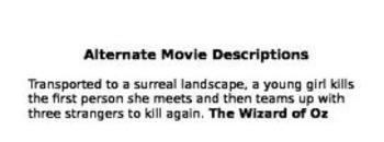 Alternate Movie Descriptions