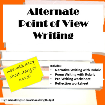 Alternate Point of View Writing, Works with any Novel or S