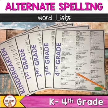 Alternate Spelling Activities