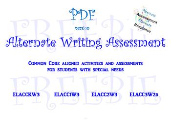 Alternate Writing Assessment FREEBIE PDF VERSION