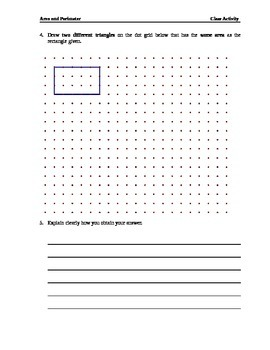 Alternative Assessment _ Area & Perimeter of Rectangle