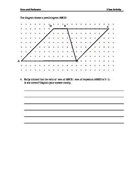 Alternative Assessment _ Area & Perimeter of parallelogram