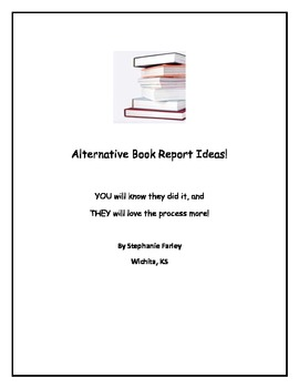 Alternative Book Report Ideas - lots to choose from!