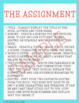 Alternative Book Report - ONE PAGER - Novel Study Middle High School