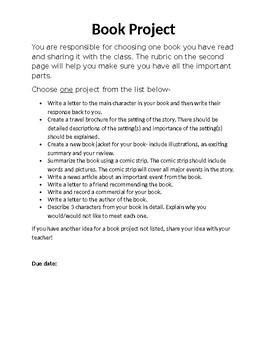 Alternative Book Reports