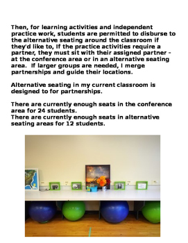 Alternative Classroom Seating