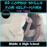 Alternative Coping Skills for Self Harm- Mindfulness- DBT-Middle & High School