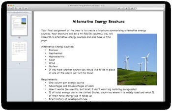 Alternative Energy Brochure
