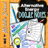 ALTERNATIVE ENERGY DOODLE NOTES, INTERACTIVE NOTEBOOK, MIN