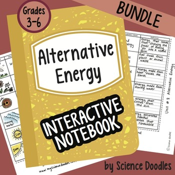 Alternative Energy Interactive Notebook Bundle by Science Doodles