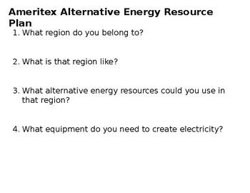Alternative Energy Resource Plan