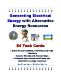Alternative Energy Resources - 54 Task Cards *Answer Key I
