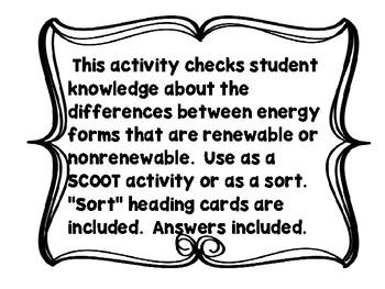 Alternative Energy SCOOT: Renewable versus Nonrenewable