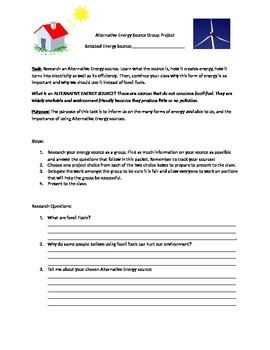 Alternative Energy Source Group Project