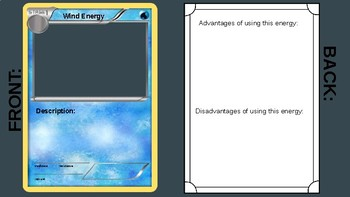 Alternative Energy Activity Cards