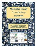Alternative Energy Vocabulary Sort- TEKS 5.7C aligned to STAAR