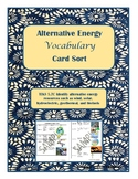 Alternative Energy Vocabulary Sort- TEKS 5.7C aligned to STAAR