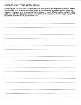 Alternative Energy Writing Prompt ACT Practice