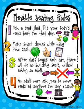 Flexible / Alternative Seating Rules Posters - Two Versions