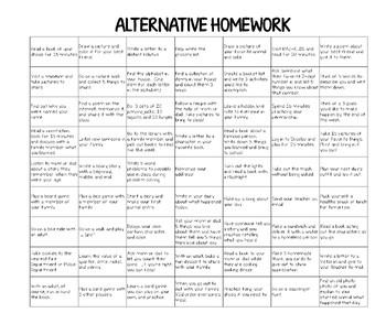 Alternative Homework Chart