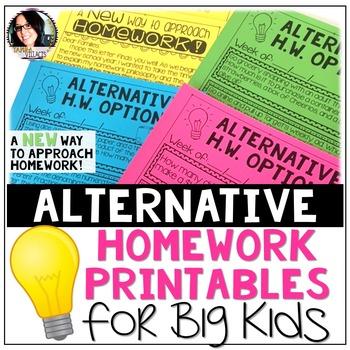 Alternative Homework Printables for Big Kids (A New Approach to Homework)