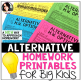 Alternative Homework Printables for Big Kids (A New Approa
