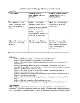 Alternative Learning Unit on Citizenship